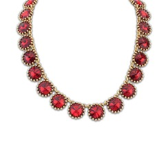 Vintage Alloy With Imitation Crystal Ladies' Fashion Necklace