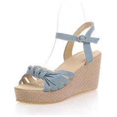 Cloth Wedge Heel Sandals Slingbacks shoes
