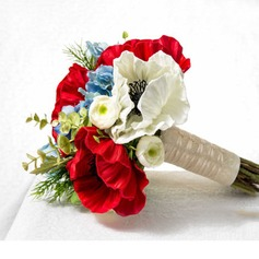 Girly Hand-tied Artificial Silk Bridal Bouquets -