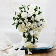 Elegant Cascade Foam/Poly Ethylene Bridal Bouquets