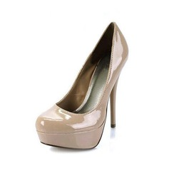 Patent Leather Stiletto Heel Pumps Peep Toe shoes