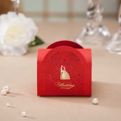 Bride & Groom Cuboid Favor Boxes (Set of 12)