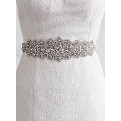 Beautiful Satin Sash With Rhinestones (015080757)