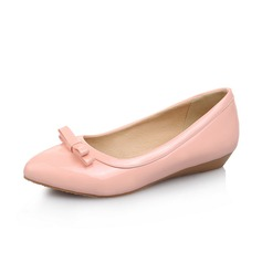Leatherette Flat Heel Flats Closed Toe With Bowknot shoes (086062322)