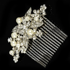 Ladies Pretty Rhinestone/Alloy/Imitation Pearls Combs & Barrettes