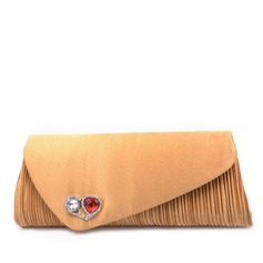 Gorgeous Satin With Acrylic Jewels Clutches