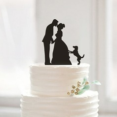Kissing Couple Figurine Acrylic Cake Topper