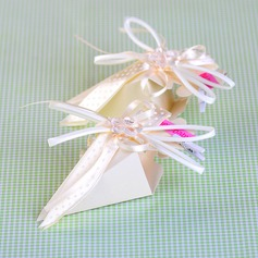 """New Baby"" Pyramid Favor Boxes With Ribbons (Set of 12)"