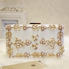 Attractive Rhinestone/Imitation Pearl Satchel/Fashion Handbags
