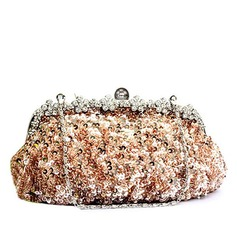 Charming Satin/Sequin With Beading/Rhinestone Clutches