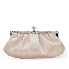 Charming Silk/Crystal/ Rhinestone Clutches (012108515)