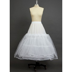 Women Tulle Netting/Polyester Ankle-length 2 Tiers Petticoats