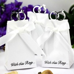 With This Ring Favor Boxes With Ribbons (Set of 12)