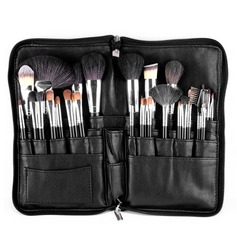 Natural Goat Hair Fabulous 32Pcs Black PU Bag Makeup Supply (046074576)