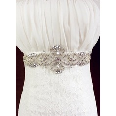 Beautiful Ribbon Sash With Rhinestones