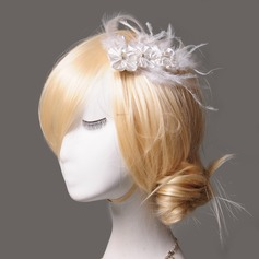 Elegant Rhinestone/Feather/Silk Flower/Freshwater Pearl Flowers & Feathers