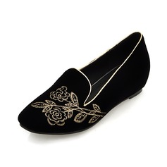 Suede Flat Heel Flats Closed Toe With Others shoes