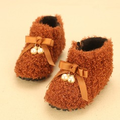 Girl's Baby's Fabric Flat Heel Round Toe Closed Toe Flats With Bowknot