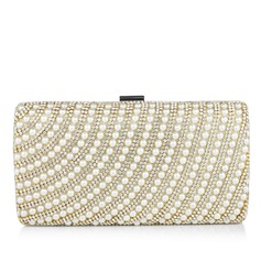 Elegant Velvet/Pearl With Rhinestone Clutches