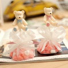 Cute Bear Favor Bags With Ribbons