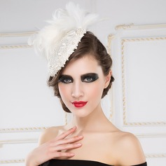 Amazing Imitation Pearls/Feather/Cambric Hats