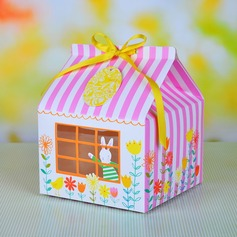 Cute Rabbit Cupcake Wrapper and Boxes With Ribbons (Set of 12)
