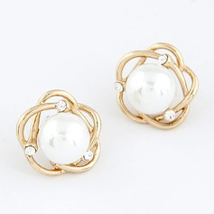 Gorgeous Alloy Czech Stones With Imitation Pearl Women's Fashion Earrings