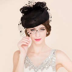 Ladies' Elegant Cambric With Tulle Fascinators (196091624)