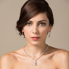 Classic Zircon/Platinum Plated Ladies' Jewelry Sets