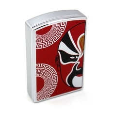 """Personalized """"Facial Masks"""" Stainless Steel Electronic Lighter"""