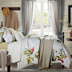 Country Casual Cotton Comforters (4pcs :1 Duvet Cover 1 Flat Sheet 2 Shams)