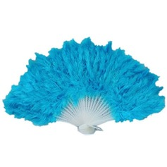 Elegant Plastic/Feather Hand fan  (051046542)