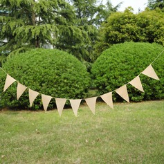 Simple/Triangle Burlap Photo Booth Props/Banner