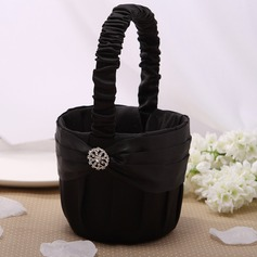 Flower Basket Black With Rhinestones (102026348)