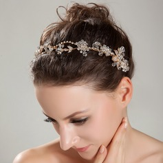 "Fancy ""A"" Level Rhinestone/Rock Crystal Quartz Headbands"