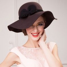 Ladies' Glamourous Autumn/Winter Wool With Floppy Hat/Bowler/Cloche Hat