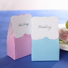 Classic Cuboid Favor Boxes With Bow
