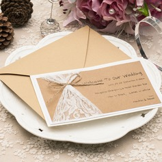 Personalized Pearl Paper/Kraft Paper Invitation Cards