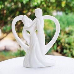 "Figurine ""Loving You With All My Heart"" Ceramic Wedding Cake Topper"