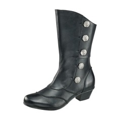 Women's Leatherette Low Heel Boots Mid-Calf Boots shoes