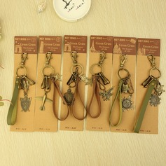 Classic Vintage Style Chrome Keychains