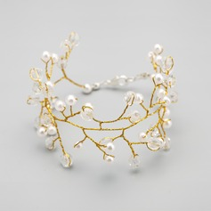Beautiful Alloy With Crystal/Imitation Pearls Ladies' Bracelets