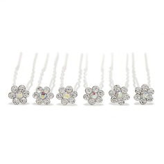 Beautiful Rhinestone/Alloy Hairpins (Set of 6)