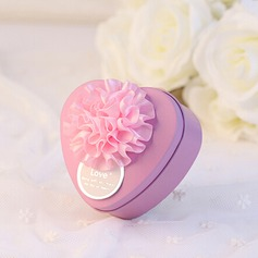 Heart-shaped Favor Tin With Flowers