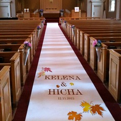 Personalized Maple Leaf Print Cloth Aisle Runners
