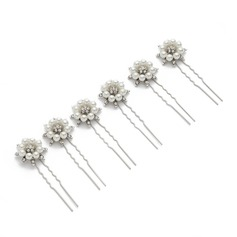 Alloy/Imitation Pearls Hairpins (Set of 6)