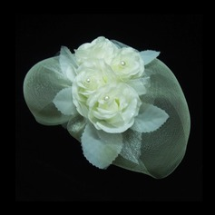Gorgeous Artificial Silk/Net Yarn Fascinators With Venetian Pearl
