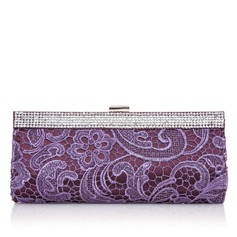 Elegant Polyester With Lace/Rhinestone Clutches