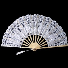 Cotton Wedding Fans With Embroidery (124064634)