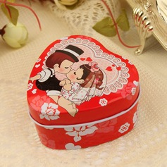 """Kiss"" Heart-shaped Favor Tin (Set of 12)"